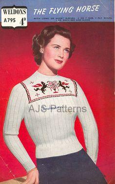 PDF Knitting pattern for a Fair Isle Jumper by TheKnittingSheep, £2.50