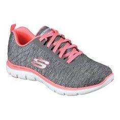 3b1af275b6e14 Women s Skechers Flex Appeal 2.0 Training Sneaker Gray Coral