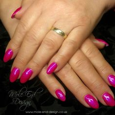 Acrylink painted with Uber pink with Candy Crush Ink London Gel Polish #acrylink #nails @i.n.k_london #ilac #acrylic
