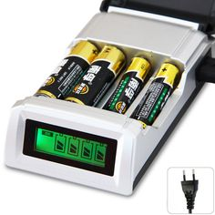 Original C905W 4 Slots Battery Charger Smart Intelligent Battery Charger For AA / AAA NiCd NiMh Rechargeable Batteries