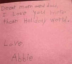 Valentine's message from Abbie.