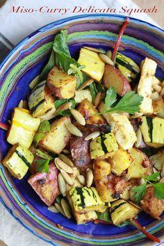 Flour.ish.en Test Kitchen: Miso-Curry Delicata Squash