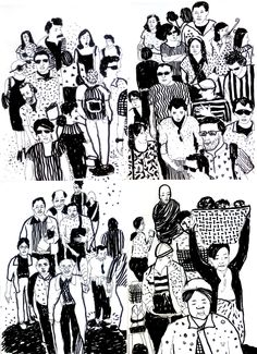 people of our country #sketchbook #blackandwhite #indians #drawing
