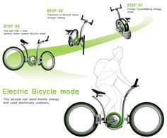 OneBike is quite an innovation I tell you! It's an electric bike that gets powered by kinetic energy. Basically when you set it on