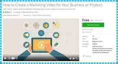 "[100% Free Udemy Course] How to Create a Marketing Video for Your Business or Product   Learn how to create simple but powerful marketing videos to boost sales and conversions by yourself.  This Udemy Course Worth 20$ So hurry up! And get it FOR FREE.  1- Details:  Instructors : iMarket XL.  Lectures : 10.  Video :39 Mins.  Skill level :Beginner level.  Languages :English.  Ratings :23 Ratings.  Students enrolled :9268.  Original Price : 20$.  2- Course Description:  ""Video marketing is a…"
