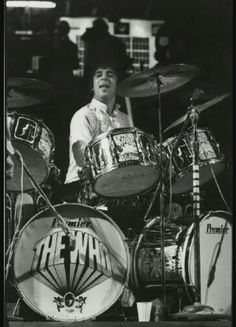 Keith with most of the 'Pictures of Lily' drum kit.