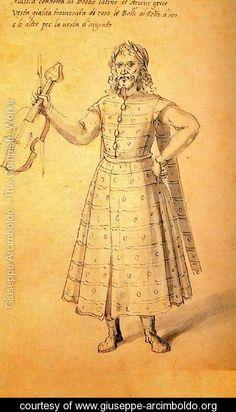Design of a dress for Music - Giuseppe Arcimboldo - www.giuseppe-arcimboldo.org