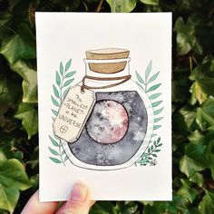 """550 Likes, 27 Comments - Anna Bjørdal (@akb_illustrations) on Instagram: """"I just realised that I forgot to post one of my potions from last year! So ladies and gentlemen,…"""""""