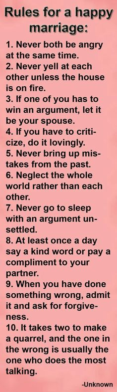 Positive Marriage Quotes - Happy Wives Club Very good rules. I think the most important thing I've learned from marriage so far is to be patient with one another and to be able to admit you're wrong. Among a lot of other things obviously ; Positive Marriage Quotes, Marriage Relationship, Happy Marriage, Marriage Advice, Love And Marriage, Marriage Couple, Relationship Sayings, Strong Marriage, Relationship Problems