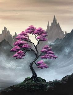 Join us for a Paint Nite event Tue Dec 2018 at 300 Liberty St. SE Salem, OR. - Join us for a Paint Nite event Tue Dec 2018 at 300 Liberty St. SE Salem, OR. Purchase your tick - Easy Canvas Painting, Simple Acrylic Paintings, Acrylic Art, Canvas Art, Tree Art, Painting Techniques, Japanese Art, Painting Inspiration, Landscape Paintings