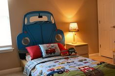 custom car headboard for a child - just trace and cut!