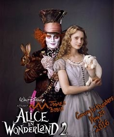 """Headline: """"Alice In Wonderland 2 Gets 2016 Release Date"""" (Friday, November 22, 2013) Image credit:  Fan made ♛ Once Upon A Blog... fairy tale news ♛"""
