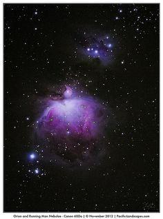 Orion and Running Man Nebulae - Canon 60Da
