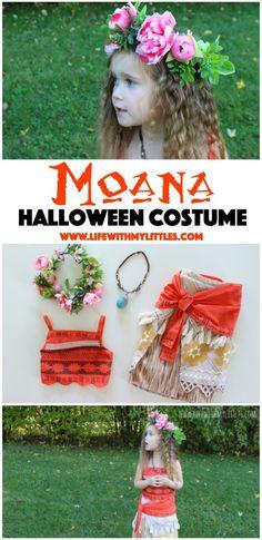 Moana Toddler Costume, Moana Costume Diy, Moana Halloween Costume, Toddler Halloween Costumes, Family Halloween, Halloween Crafts, Toddler Girl Costumes, Maleficent Costume, Costumes Kids