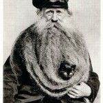Louis Coulon, His 11 Foot Beard and Cat #cat #photography