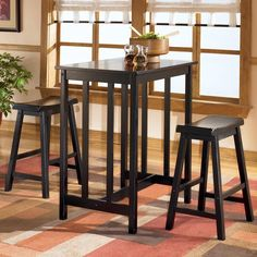 Ashley Conrad Rectangular Dining Room Counter Height Table Set (25AS-D202-113)