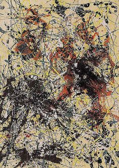 "Jackson Pollock - No. 12 (1949) - Oil paint on paper - 31"" X 22"" - Museum of Modern Art New York"