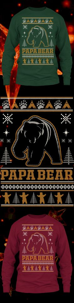 Papa Bear Christmas Sweater  - Get this limited edition ugly Christmas Sweater just in time for the holidays! Buy 2 or more, save on shipping!