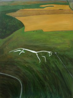 """Saatchi Art is pleased to offer the painting, """"Uffington White Horse from the air by Robert Harris. Original Painting: Acrylic on Canvas. Robert Harris, Original Art, Original Paintings, Buy Prints, Contemporary Paintings, Figurative Art, Art For Sale, Online Art, Saatchi Art"""