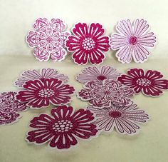 A personal favorite from my Etsy shop https://www.etsy.com/listing/266567615/12-handmade-glitter-flowers-stampin-up