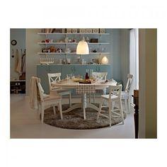 Mooie witte uitrekbare eettafel van Ikea