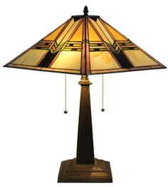 TIFFANY STYLE MISSION DESIGN TABLE LAMP 23 IN - Click image twice for more info - See a larger selection of tiffany table lamps at http://tablelampgallery.com/product-category/tiffany-table-lamps/ - home, home decor, home ideas, lightning, gift ideas, lamp.