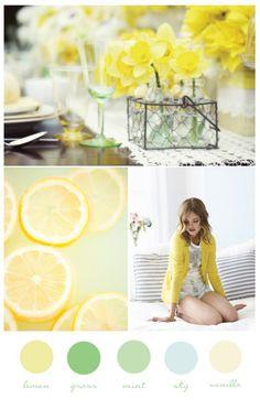 Color palette inspiration: lemon/grass/mint/sky/vanilla.