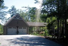 Flexible Terrace Level - 29803RL | Country, Craftsman, Mountain, Vacation, Photo Gallery, 1st Floor Master Suite, Butler Walk-in Pantry, CAD Available, Den-Office-Library-Study, MBR Sitting Area, Media-Game-Home Theater, PDF, Sloping Lot | Architectural Designs Cool Garages, Detached Garage, Craftsman House Plans, Story House, Garage Plans With Loft, Garage Ideas, Mountain House Plans, Carport Plans, Pole Barn Garage