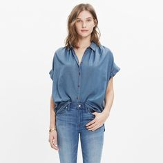 Central Shirt in Bright Indigo
