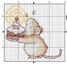 Ideas Crochet Free Pattern Animals Mice For 2020 Xmas Cross Stitch, Cross Stitch For Kids, Cross Stitch Needles, Cross Stitch Cards, Simple Cross Stitch, Cross Stitch Baby, Cross Stitch Samplers, Cross Stitch Animals, Cross Stitching