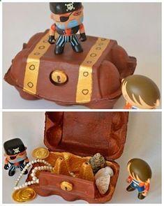 Cest un vrai trésor ? Sean, 4 ans. le matériel nécessaire : - une boîte de 6 œufs en carton (idéalement avec une...