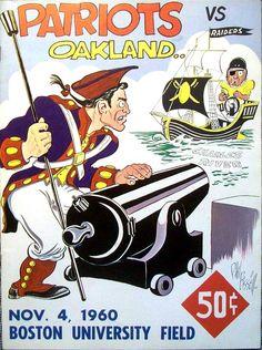 1960 AFL Game Program - Oakland Raiders vs. Boston Patriots