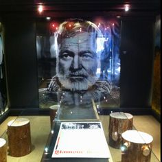 Papa Hemingway at Sun Valley Starbucks