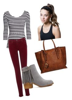 """""""Untitled #70"""" by sophiegrace-1 ❤ liked on Polyvore featuring AG Adriano Goldschmied, Black Rivet and Titika"""