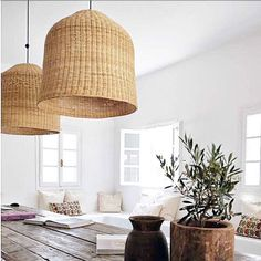Room inspo- we have some lovely large lampshades similar to these beauties ! #bodieandthenomad #conceptstore #lampshade #roominspo #interiors #homeware #designinspo #interiordesign