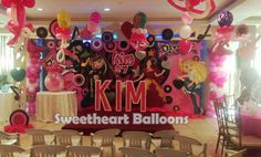 Kim at seven with her monster high theme backdrop.  (02)5249882; 09178908628  #stagedesign #balloons #backdrop #balloonsarrangement #party #events #monsterhigh