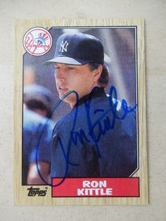 Ron #kittle #autographed 1987 #topps baseball card,  View more on the LINK: http://www.zeppy.io/product/gb/2/282200068287/