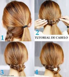 DIY Braid Ponytail hair ponytail diy braid easy crafts  diy tutorial diy, diy hair, diy fashion, diy style, easy diy, beauty diy,  diy beauty