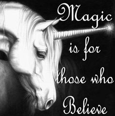 I don't believe in unicorns, but I do REALLY adore them. They're like gorgeous. Even as little girl I used to wish I had a pet unicorn when I threw a coin in a fountain. :)