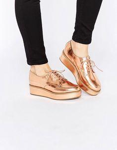 Image 1 of ASOS MAVIS Flatform Lace Up shoes