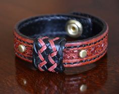 Turk's Head Bordeaux leather bracelet is a beauty! Handcrafted with pride. on Etsy, $60.00  #Chevron #cuff