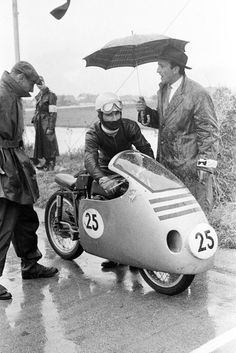 Carlo Ubbiali MV Agusta 1957 Salzburgring GP Austria