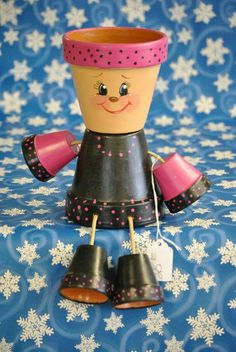 Hey, I found this really awesome Etsy listing at https://www.etsy.com/listing/211333730/flower-pot-people-black-and-hot-pink