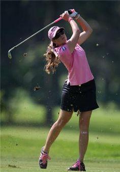 Paula Creamer, pink and black combo
