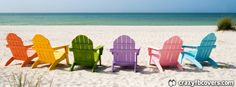 Colorful Beach Chairs Summer Facebook Cover Facebook Timeline Cover