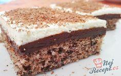 Čokoládové pokušení   NejRecept.cz Vanilla Cake, Cake Recipes, Cheesecake, Food And Drink, Snacks, Cookies, Ethnic Recipes, Creme, Grob