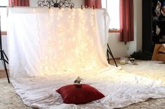 MommyBrown.com - Pin Profile - DIY Christmas backdrop to take baby pictures at home