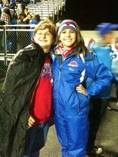 Me and Erica Barbara at the Conner Halloween game