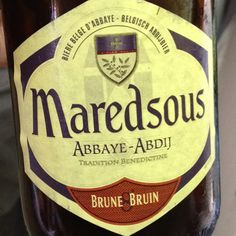 Maredsous - Brune 8% Belgian beer. Good memories of Wallonia associated with this one, and it's happily available at Wegmans.