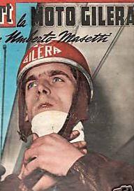 Umberto Masetti nel 1952 vince il titolo mondiale nella Classe 500 su Gilera Motorcycle Racers, Poster